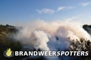 Brandweer oefent blussen van bosbrand bij Rucphense Bossen