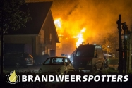 Woningbrand (Grote Brand) (Ontploffing) Ouwer in Etten-leur