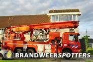 Woningbrand  Verzonken kasteel in Udenhout