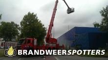 Binnenbrand (OGS / ontploffing) Caligen europe bv konijnenberg in Breda