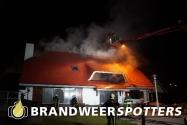 Woningbrand (Grote Brand) aan de Hilvarenbeekseweg in Tilburg (+Video)