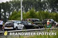 Gewonde bij kettingbotsing met acht voertuigen op de A58 bij Moergestel (+Video)