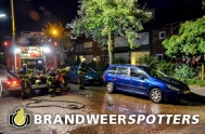 Voertuig in brand  Prinsenstraat in Rijen