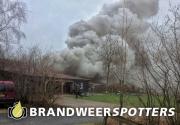 Woningbrand (Zeer grote brand) aan de Kollenburgsebaan in Oisterwijk (+Video)